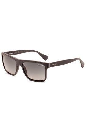 Женские очки солнцезащитные PRADA темно-коричневого цвета, арт. 01SS-TV42D0   Фото 2