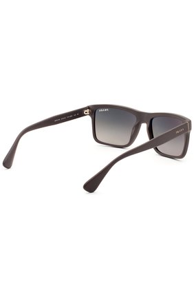 Женские очки солнцезащитные PRADA темно-коричневого цвета, арт. 01SS-TV42D0   Фото 3