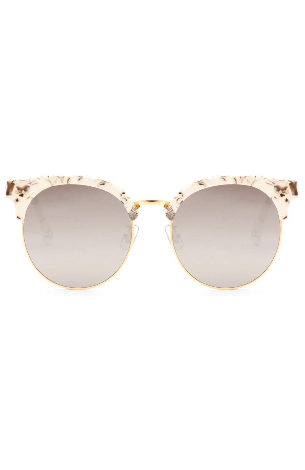 Женские очки солнцезащитные GENTLE MONSTER серого цвета, арт. M00N CUT MB1 (M) | Фото 1