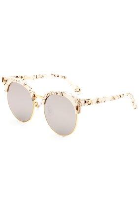 Женские очки солнцезащитные GENTLE MONSTER серого цвета, арт. M00N CUT MB1 (M) | Фото 2