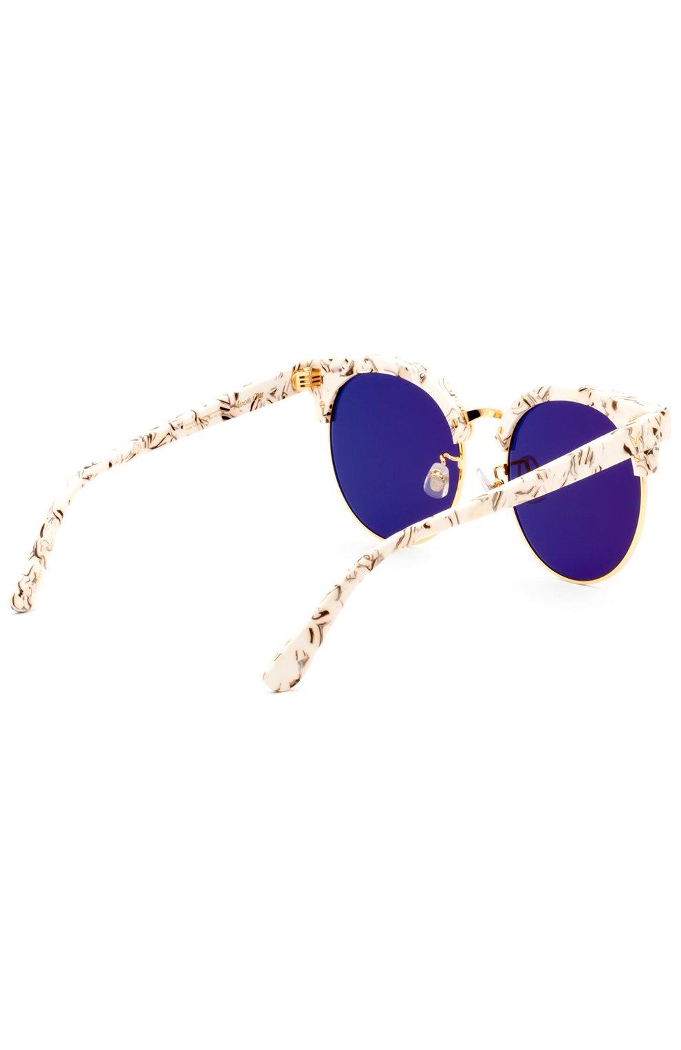 Женские очки солнцезащитные GENTLE MONSTER серого цвета, арт. M00N CUT MB1 (M) | Фото 3