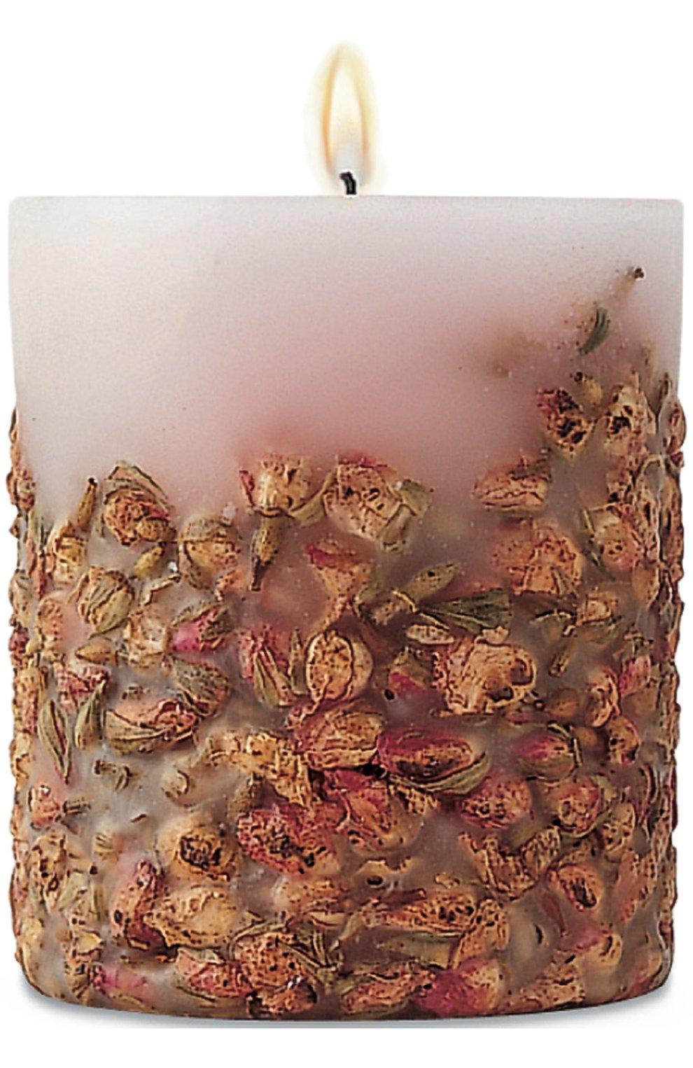 Цилиндрическая свеча с ароматом розы | Фото №1