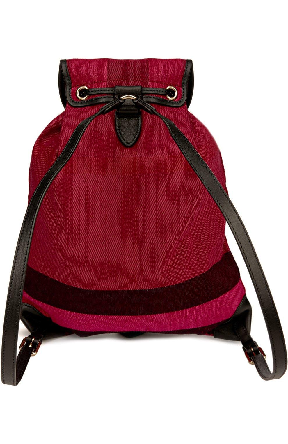 Рюкзак из текстиля в клетку с кожаной отделкой | Фото №2