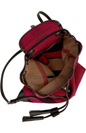 Рюкзак из текстиля в клетку с кожаной отделкой | Фото №4