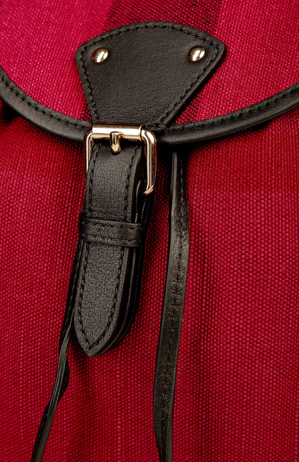 Рюкзак из текстиля в клетку с кожаной отделкой | Фото №6