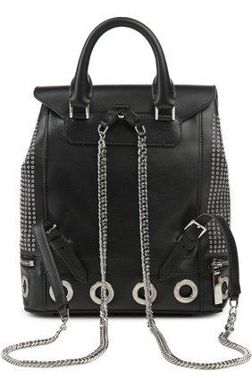Кожаный рюкзак с металлическими заклепками | Фото №2