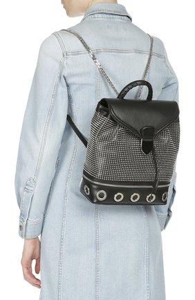 Кожаный рюкзак с металлическими заклепками | Фото №6