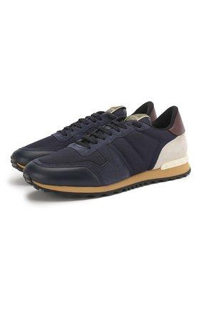 Мужские замшевые кроссовки valentino garavani VALENTINO синего цвета, арт. KY0S0723/TCV | Фото 1