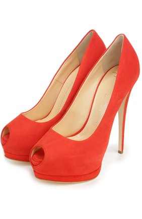 Замшевые туфли Sharon Giuseppe Zanotti Design красные | Фото №1