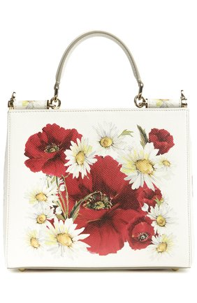 Кожаная сумка Sicily с цветочным принтом   Фото №1