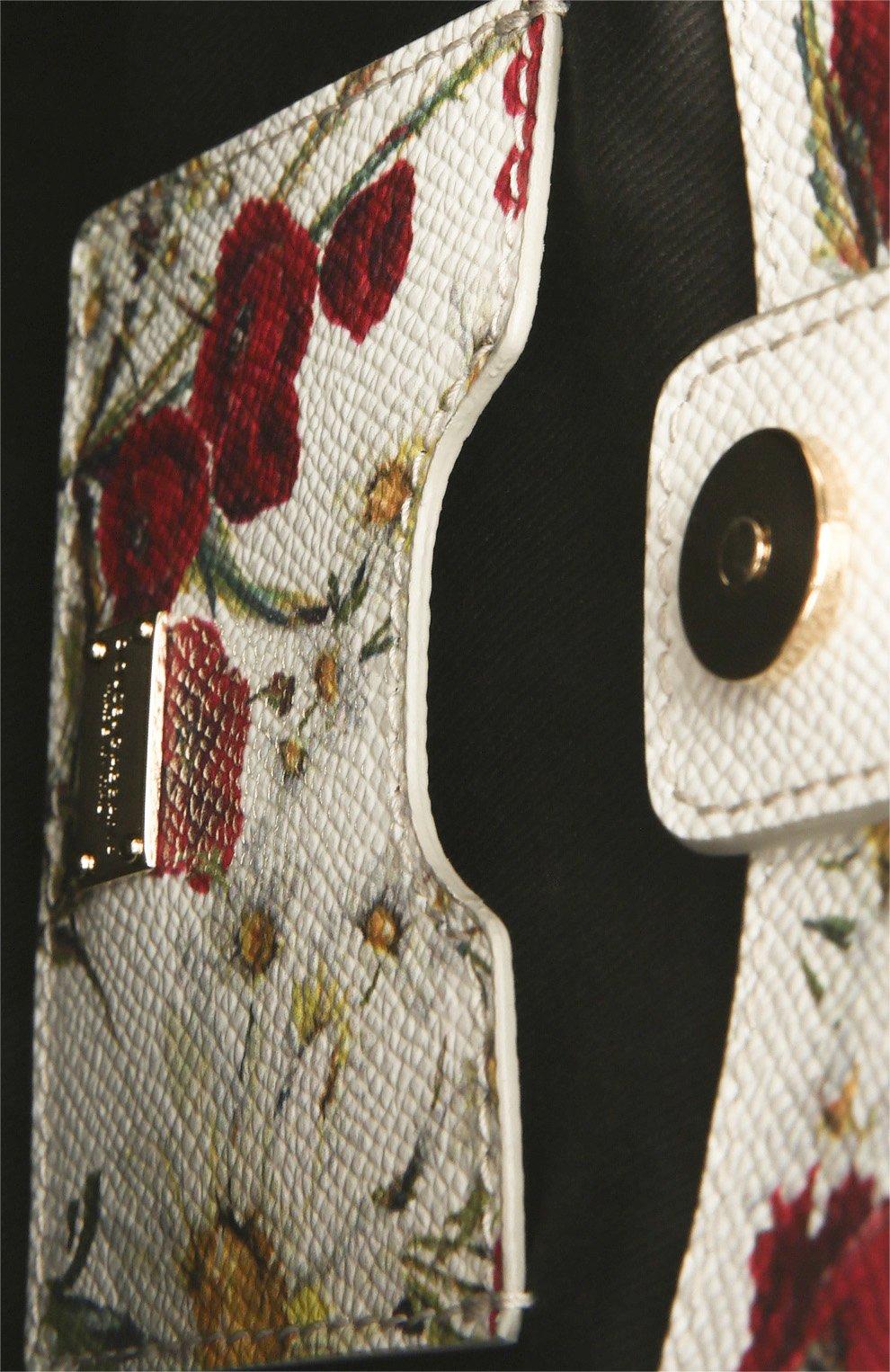Кожаная сумка Sicily с цветочным принтом   Фото №5