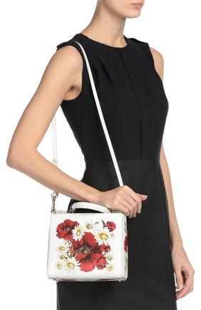 Кожаная сумка Sicily с цветочным принтом   Фото №8