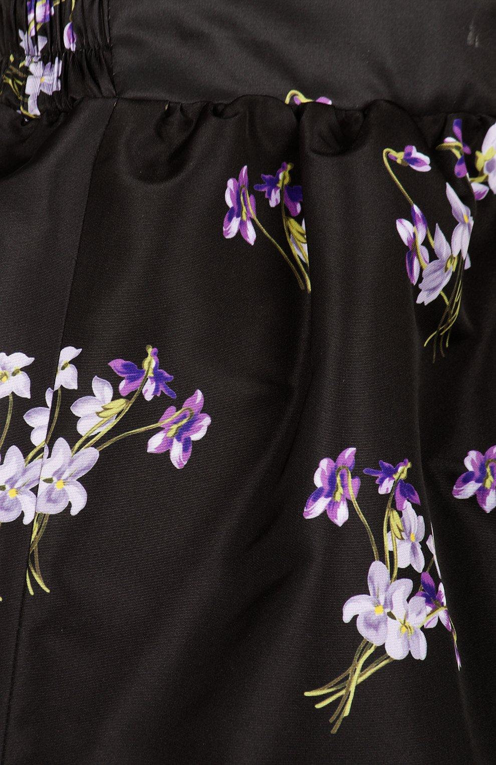 Юбка-тюльпан с контрастным принтом REDVALENTINO черная | Фото №3