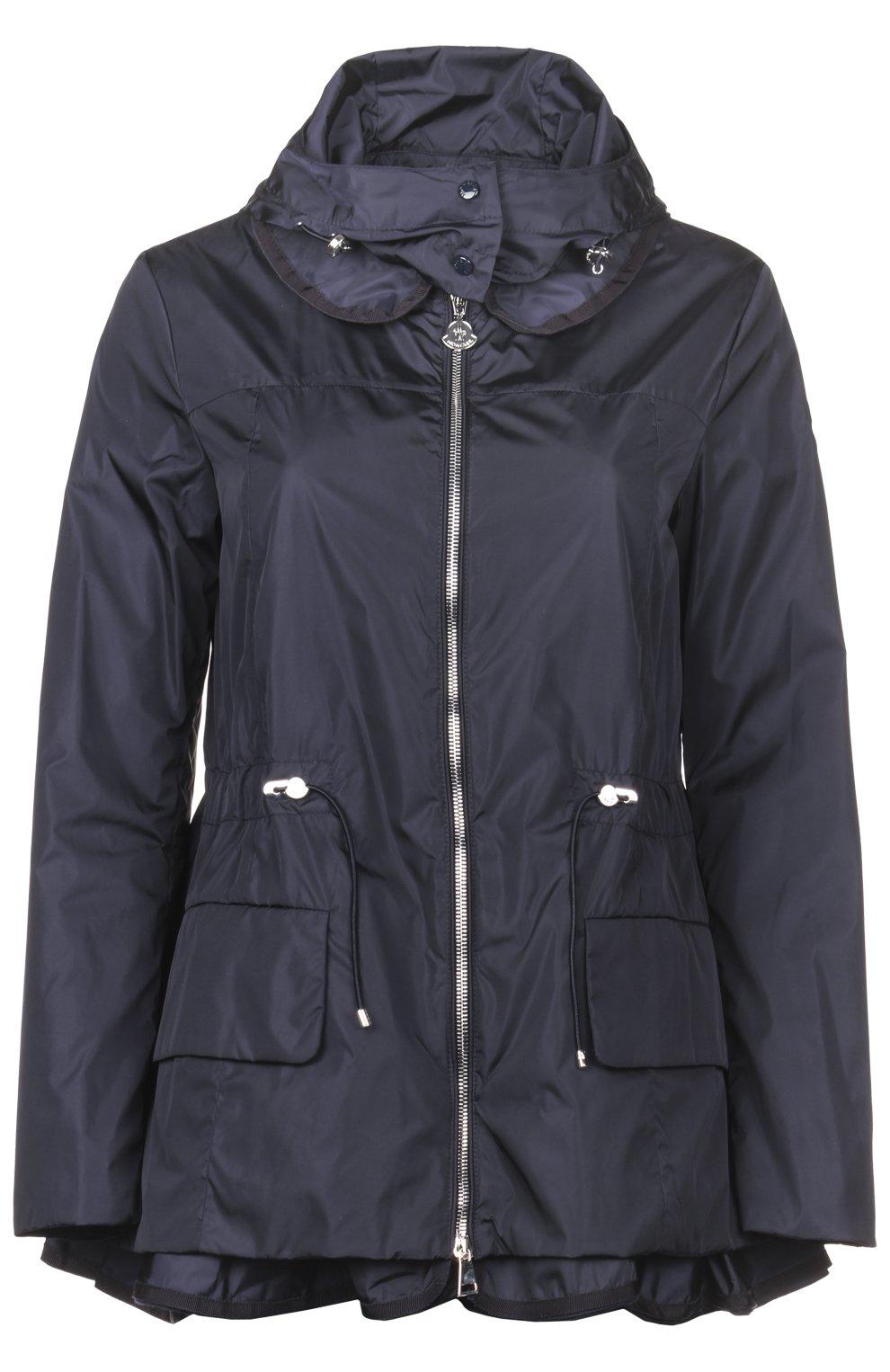 cc0e6d48 Женская синяя куртка-ветровка с капюшоном MONCLER — купить за 69950 ...