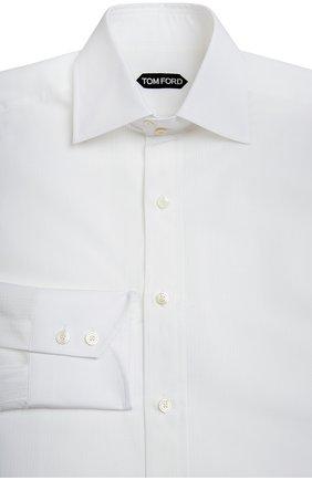 Мужская сорочка TOM FORD белого цвета, арт. 7FT10894C1IG | Фото 1