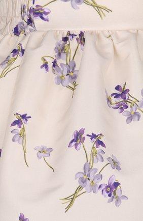 Юбка-тюльпан с контрастным принтом REDVALENTINO розовая   Фото №3