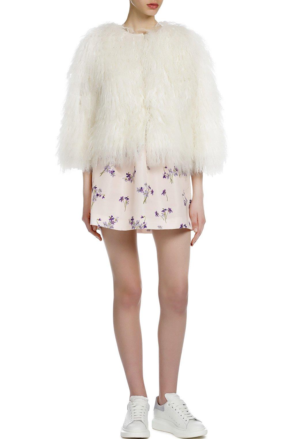 Юбка-тюльпан с контрастным принтом REDVALENTINO розовая   Фото №4