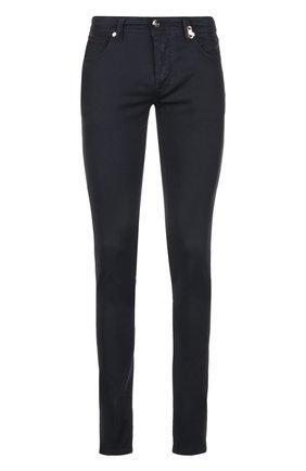 Зауженные брюки из эластичного хлопка | Фото №1