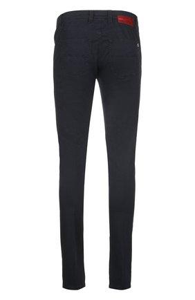 Зауженные брюки из эластичного хлопка Sartoria Tramarossa темно-синие | Фото №1