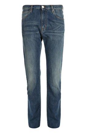 Джинсы прямого кроя Armani Jeans синие | Фото №1