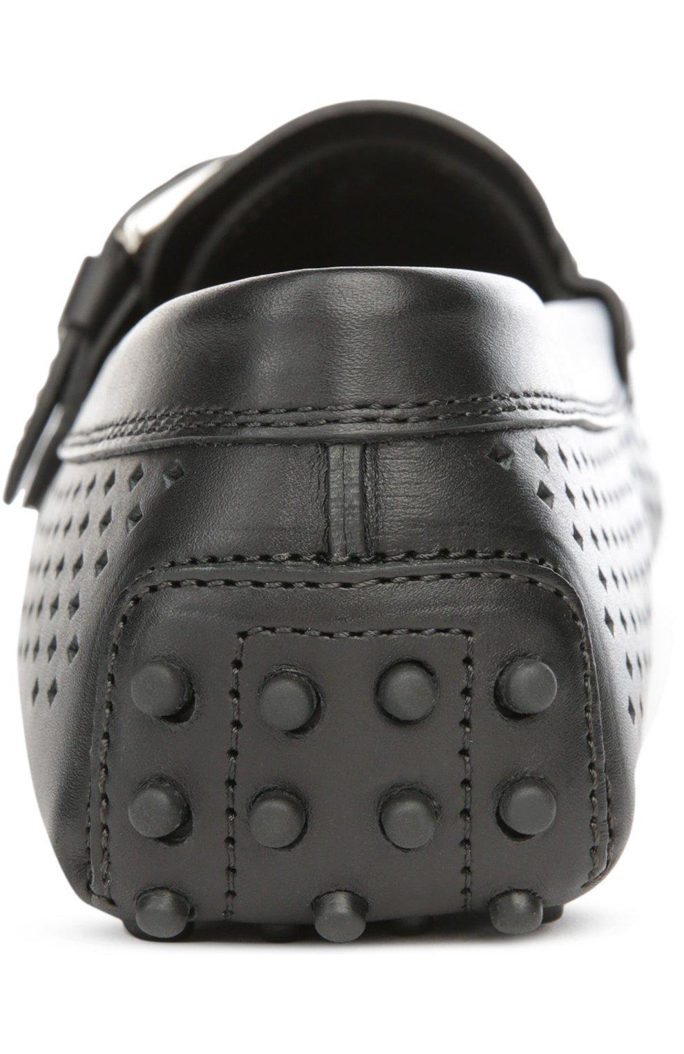 Кожаные мокасины Gommino с перфорацией | Фото №3