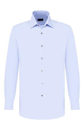 Мужская хлопковая сорочка LANVIN синего цвета, арт. RMSI0012-S00300PER | Фото 1