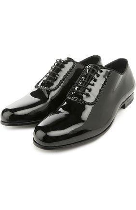 Мужские кожаные оксфорды BRIONI черного цвета, арт. QYH4/04728 | Фото 2