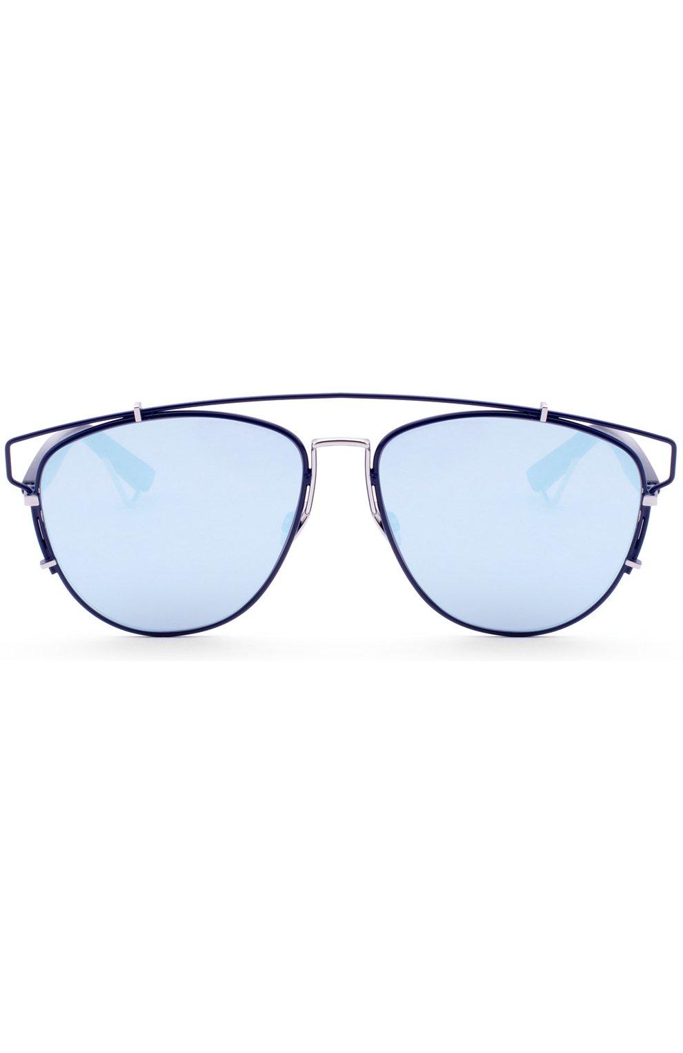 Женские солнцезащитные очки DIOR темно-синего цвета, арт. DI0RTECHN0L0GIC PQU   Фото 1