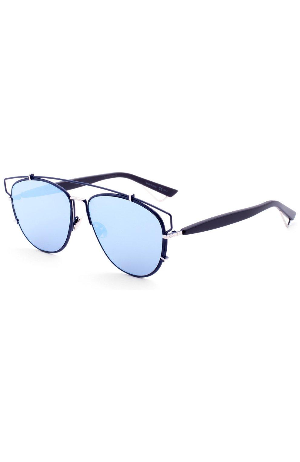 Женские солнцезащитные очки DIOR темно-синего цвета, арт. DI0RTECHN0L0GIC PQU   Фото 2