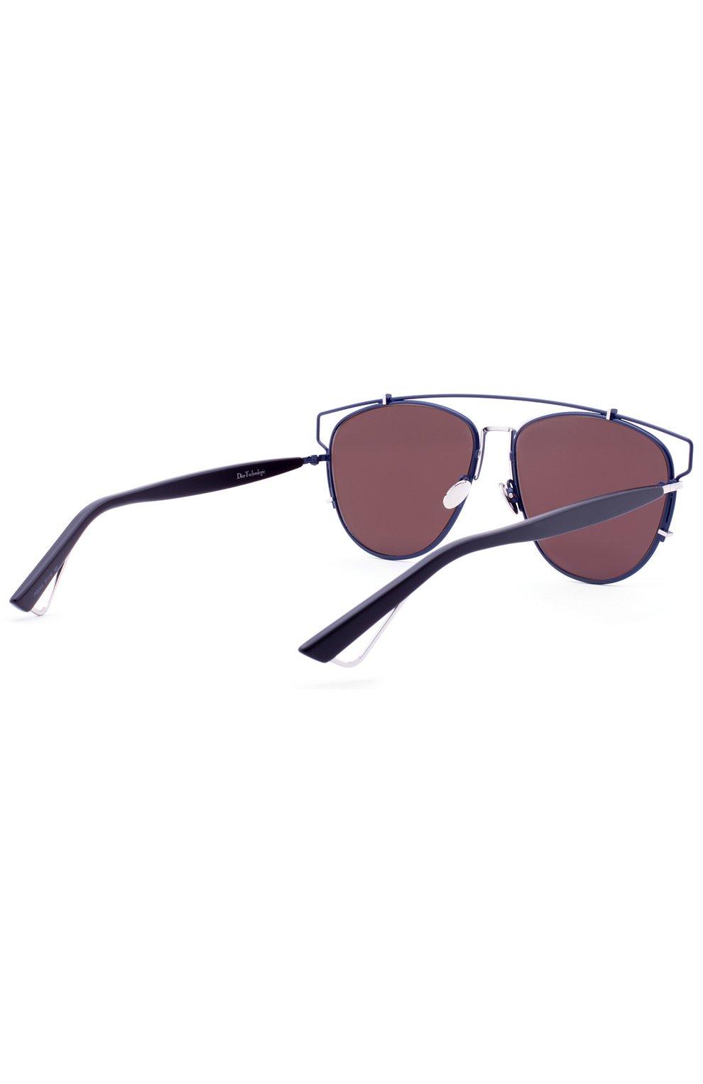 Женские солнцезащитные очки DIOR темно-синего цвета, арт. DI0RTECHN0L0GIC PQU   Фото 3