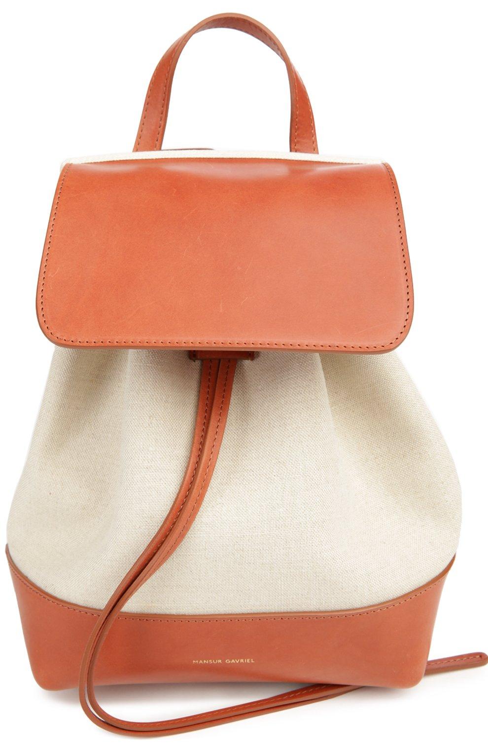 Рюкзак из текстиля с кожаной отделкой | Фото №1
