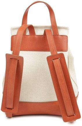 Рюкзак из текстиля с кожаной отделкой | Фото №2