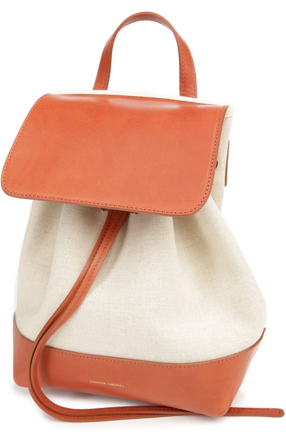 Рюкзак из текстиля с кожаной отделкой | Фото №3