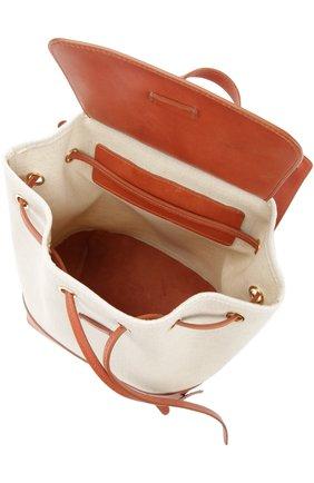 Рюкзак из текстиля с кожаной отделкой | Фото №4