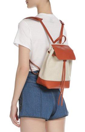 Рюкзак из текстиля с кожаной отделкой | Фото №6