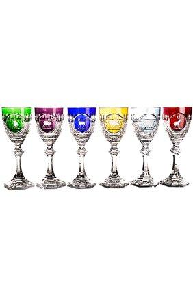 Мужского набор из 6-ти фужеров для вина hunt TSAR бесцветного цвета, арт. 552016   Фото 1