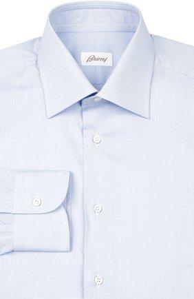 Мужская хлопковая сорочка BRIONI светло-голубого цвета, арт. RCL9/PZ022 | Фото 1