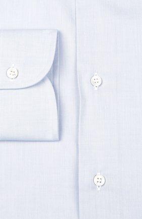 Мужская хлопковая сорочка BRIONI светло-голубого цвета, арт. RCL9/PZ022 | Фото 2