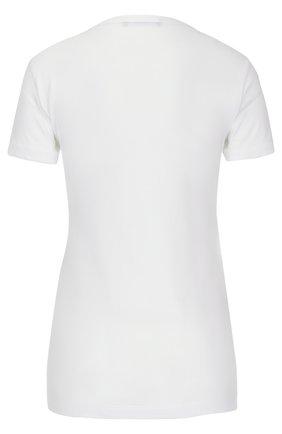 Хлопковая футболка с кристаллами Dolce & Gabbana белая | Фото №2