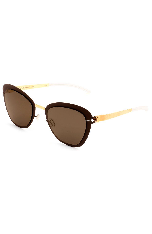 Женские солнцезащитные очки MYKITA темно-коричневого цвета, арт. J0SEPPA/G0LD/TERRA/BRILLIANTGREY | Фото 2