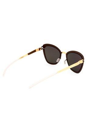 Женские солнцезащитные очки MYKITA темно-коричневого цвета, арт. J0SEPPA/G0LD/TERRA/BRILLIANTGREY | Фото 3