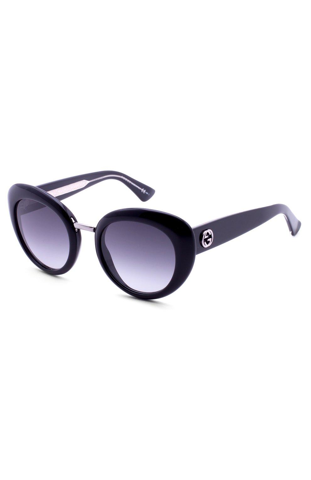 Женские солнцезащитные очки GUCCI черного цвета, арт. 3808 Y6C | Фото 2