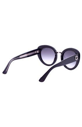 Женские солнцезащитные очки GUCCI черного цвета, арт. 3808 Y6C | Фото 3