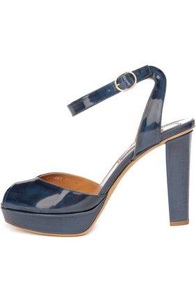 Лаковые босоножки Vesper на устойчивом каблуке | Фото №1