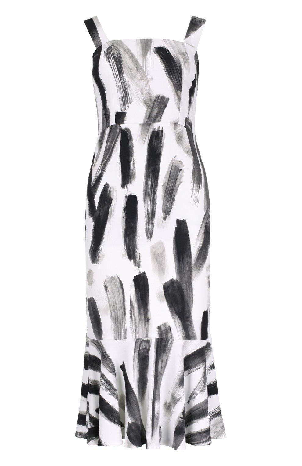 Платье-футляр с юбкой годе | Фото №1