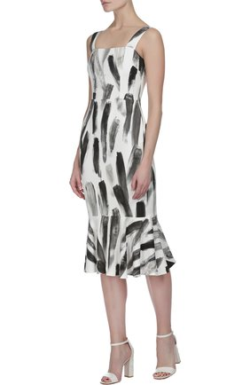 Платье-футляр с юбкой годе | Фото №4