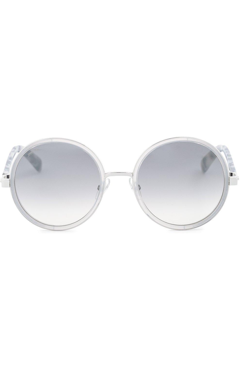 Женские солнцезащитные очки JIMMY CHOO светло-серого цвета, арт. ANDIE J7L | Фото 1