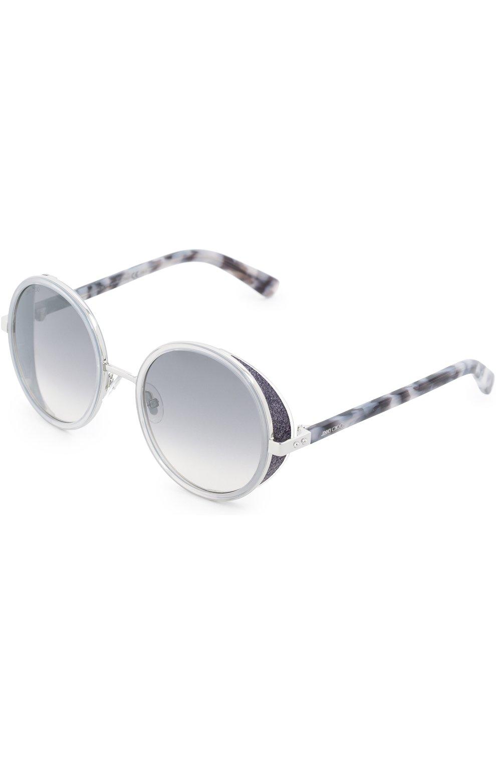 Женские солнцезащитные очки JIMMY CHOO светло-серого цвета, арт. ANDIE J7L | Фото 2