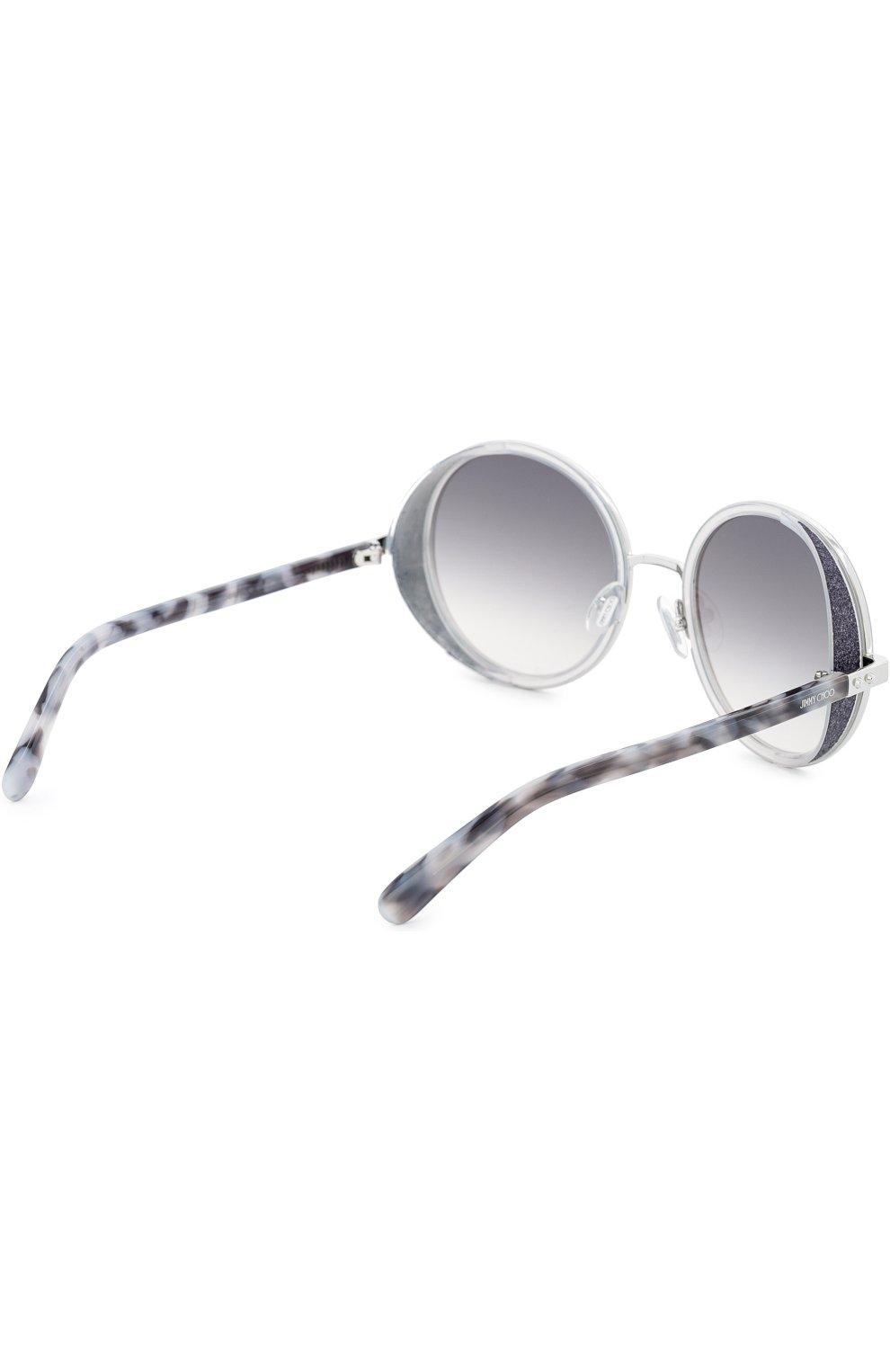 Женские солнцезащитные очки JIMMY CHOO светло-серого цвета, арт. ANDIE J7L | Фото 3
