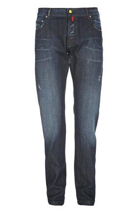 Узкие джинсы с потертостями | Фото №1